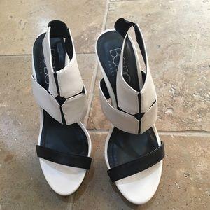 Heels . Used once . Like new .